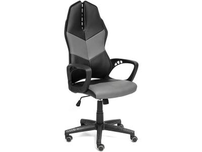 Кресло Iwheel кож.зам Чёрный + Серый