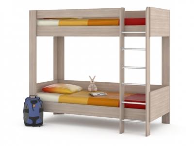 Кровать двухъярусная Ника 438 М Ясень шимо светлый