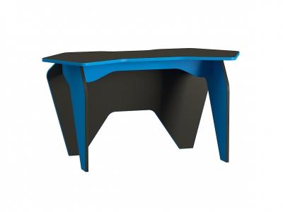 Стол компьютерный 12.63 Базис 2 Черный-Светло-синий