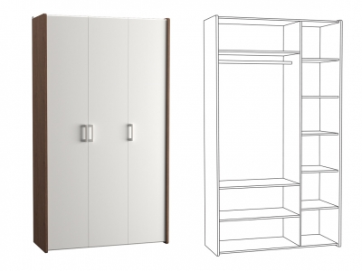 Шкаф для одежды 10.78 Камея