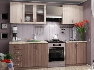 Кухня Татьяна Ясень Шимо темный - светлый