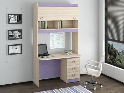 Детский письменный стол с надстройкой Индиго ГН-145.012