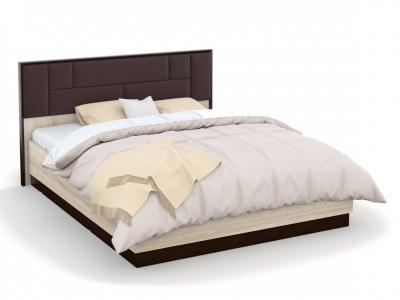 Кровать Эшли 160х200 с подъемным механизмом с мягким изголовьем Венге/сонома