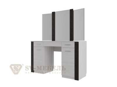 Стол туалетный с зеркалом Гамма 20 Ясень Анкор-Венге