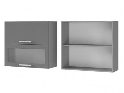Шкаф настенный с дверями горизонтальными 800х720х310 8В3 БТС МДФ