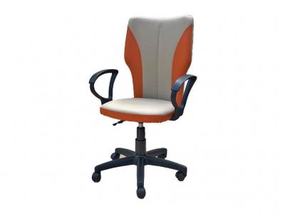 Офисное кресло Аврора бежевый-оранжевый