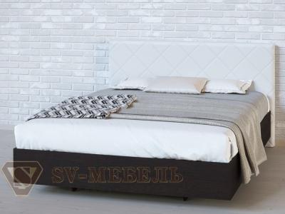 Кровать двойная №1 Ромб/Дуб Венге/Сантекс бежевый