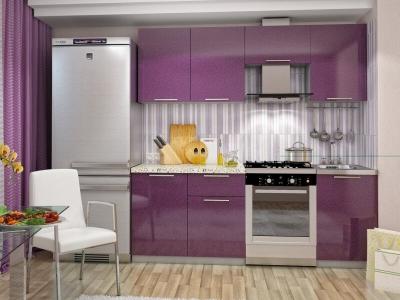 Кухня Олива 2100 Металик Сирень