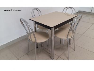 Стол со стеклом нераскладной Орфей бежевый 850х600