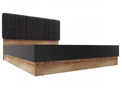 Кровать с подъемным механизмом 1800 Рамона Дуб кельтский/Черный