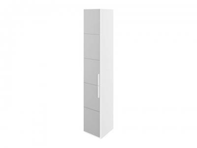 Шкаф торцевой с 1 зерк. дверью левый Наоми СМ-208.07.09 L Белый глянец