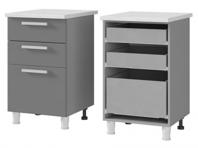 Шкаф-стол с 3-мя ящиками 500х820х600 5Р3 БТС МДФ