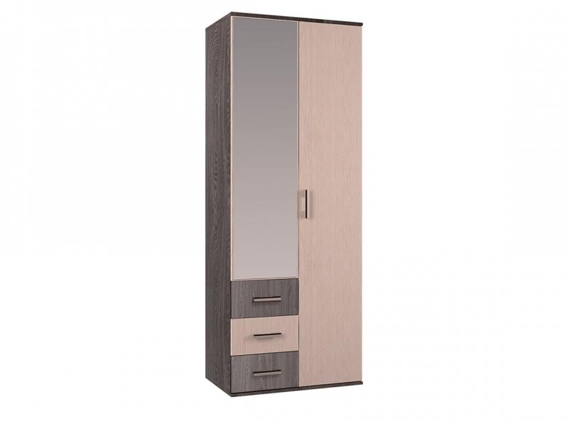 Шкаф 2-х створчатый Белла 2120х800х470 ясень шимо/дуб атланта