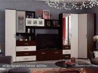 Гостиная Белла комплектация 1 венге/дуб атланта