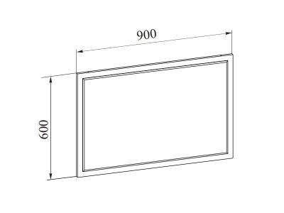 Зеркало Лагуна-2 900х600